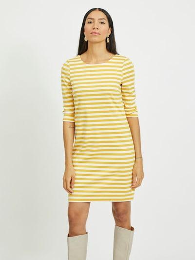 VILA Kleid in senf / weiß, Modelansicht