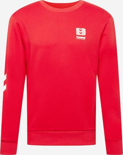 Hummel Спортен блузон с качулка в огнено червено / бяло, Преглед на продукта