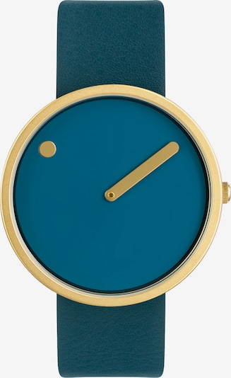 Picto Uhr in blau / gold, Produktansicht