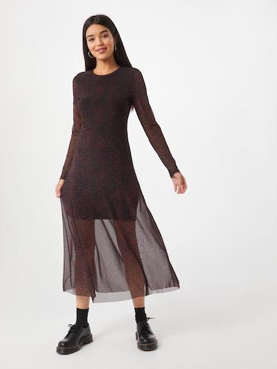 CATWALK JUNKIE Kleid 'Dr Jagger' in dunkelrot / schwarz, Modelansicht