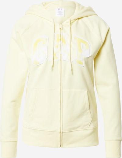 GAP Суичъри с качулка 'NOVELTY' в светложълто / бяло, Преглед на продукта