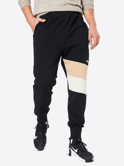 Hummel Sporthose 'AIDAN' in beige / schwarz / weiß, Modelansicht