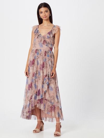 Maya Deluxe Kleid in blau / braun / altrosa / rot / weiß, Modelansicht