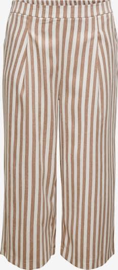 ONLY Carmakoma Pantalon à pince 'Caris' en noisette / blanc, Vue avec produit