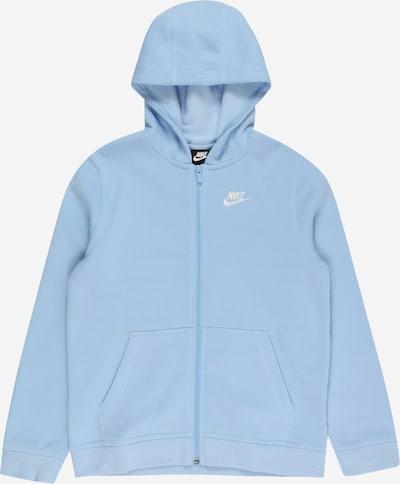 Nike Sportswear Sweatjacke in hellblau / weiß, Produktansicht