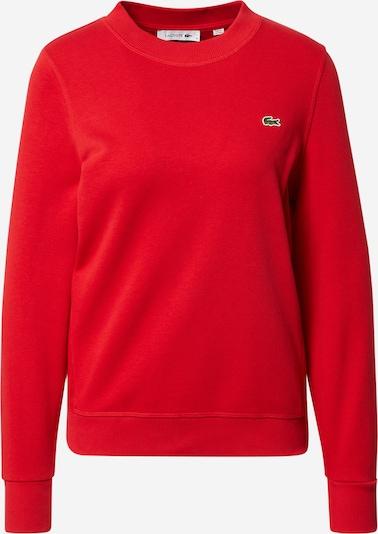 Bluză de molton LACOSTE pe roșu, Vizualizare produs