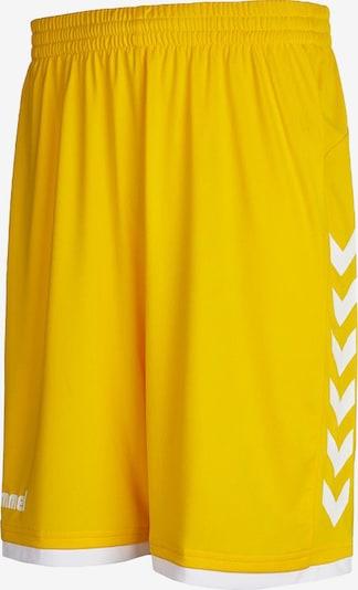 Hummel Sportbroek in de kleur Geel / Wit, Productweergave