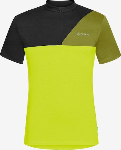 VAUDE T-Shirt 'Tremalzo IV' in oliv / neongrün / schwarz, Produktansicht
