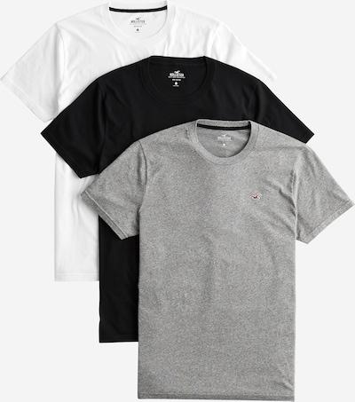 HOLLISTER T-Shirt 'MH CREW MULTIPACK' en gris / noir / blanc, Vue avec produit