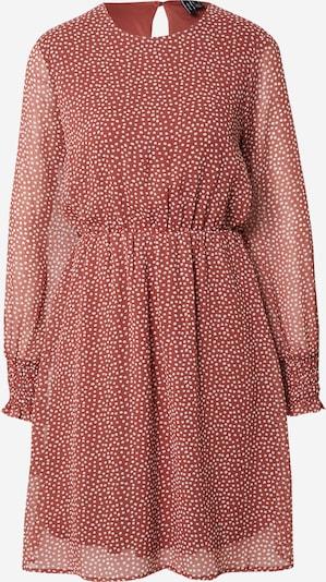 VERO MODA Kleid 'Milla' in rostbraun / weiß, Produktansicht