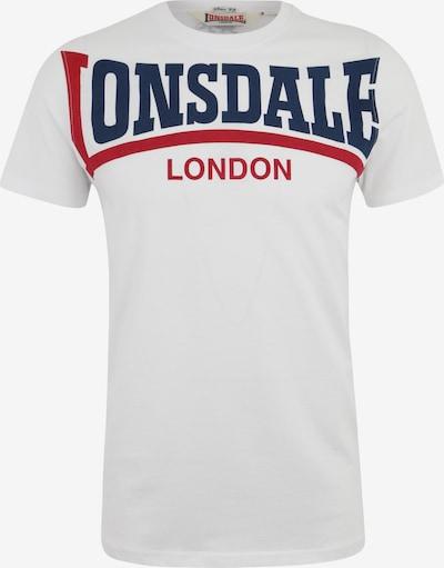 LONSDALE T-Shirt CREATON mit großem Frontdruck in weiß, Produktansicht
