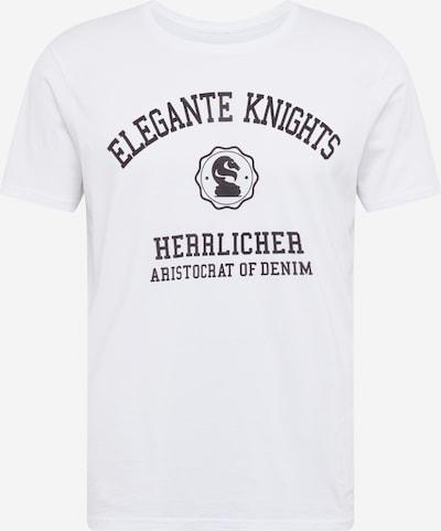 Tricou Herrlicher pe alb, Vizualizare produs