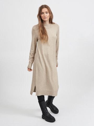 VILA Gebreide jurk 'Ril' in Bruin