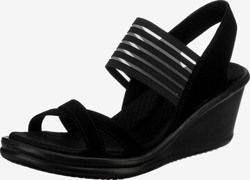 SKECHERS Sandale in Schwarz