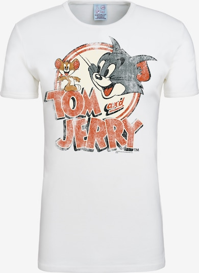 LOGOSHIRT T-Shirt Tom & Jerry - Logo in weiß: Frontalansicht