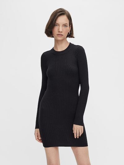 PIECES Knitted dress 'Crista' in Black, View model