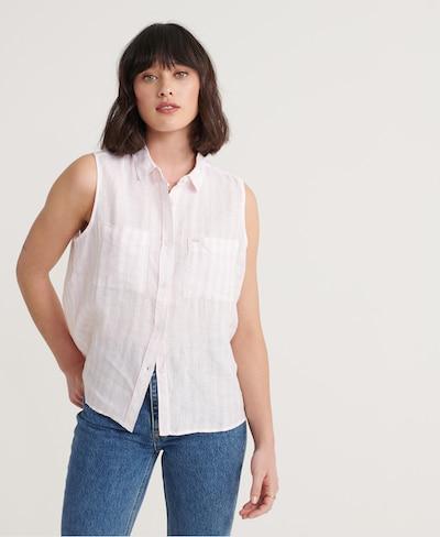 Superdry Hemd 'Aubrey' in rosa / weiß, Modelansicht