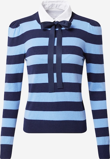 Lauren Ralph Lauren Sweater 'REYA' in Light blue / Dark blue / White, Item view