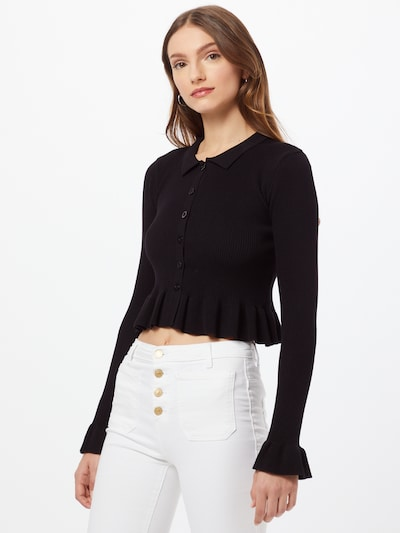 Daisy Street Плетена жилетка 'BELLA' в черно, Преглед на модела
