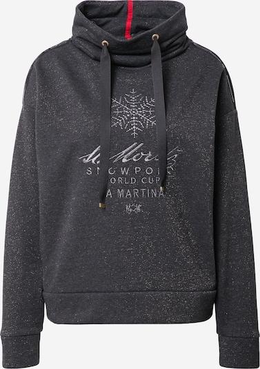 La Martina Sweat-shirt en gris, Vue avec produit