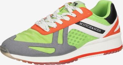 SCOTCH & SODA Baskets basses en vert fluo / rouge / noir / blanc, Vue avec produit