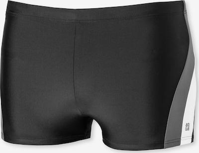 SCHIESSER Badehose in grau / schwarz / weiß, Produktansicht