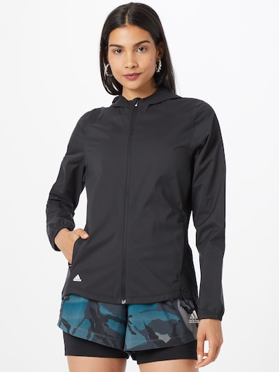 ADIDAS PERFORMANCE Athletic Jacket in Black: Frontal view