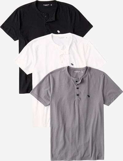 Abercrombie & Fitch Majica u siva / crna / bijela, Pregled proizvoda