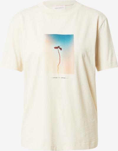 Tricou 'MIAA NATURE IS CHANGE' ARMEDANGELS pe azuriu / portocaliu piersică / negru / alb murdar, Vizualizare produs