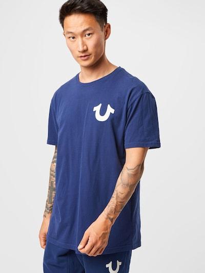 True Religion T-Shirt en bleu violet / blanc: Vue de face