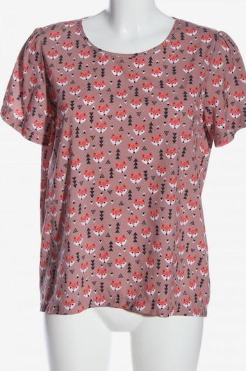 Fräulein Stachelbeere Print-Shirt in L in hellorange / pink / schwarz, Produktansicht