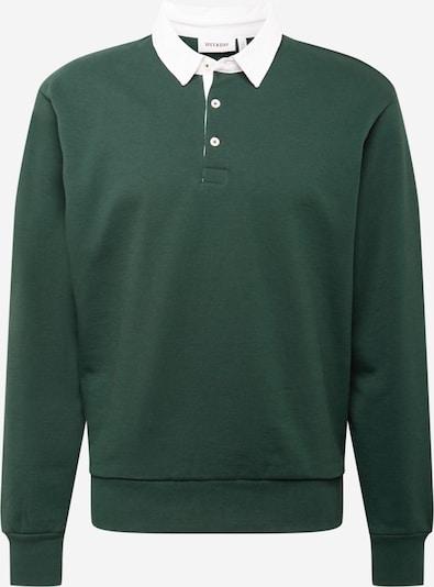 WEEKDAY Mikina 'Ron Rugby' - smaragdová / bílá, Produkt