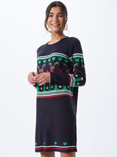 Megzta suknelė 'XMAS' iš ONLY , spalva - tamsiai mėlyna / mišrios spalvos, Modelio vaizdas