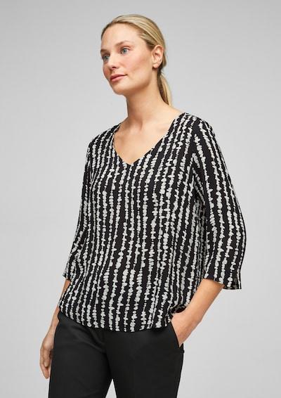 s.Oliver BLACK LABEL Bluse in schwarz / weiß, Modelansicht