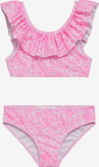 MANGO KIDS Bikini in pink / weiß, Produktansicht