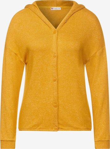 STREET ONE Knit Cardigan in Yellow