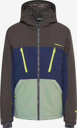 PROTEST Sport-Jacke in dunkelblau / oliv / hellgrün, Produktansicht