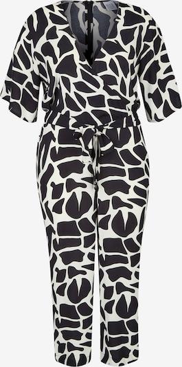 Rock Your Curves by Angelina K. Jumpsuit in schwarz / weiß, Produktansicht