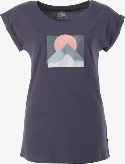 Lakeville Mountain T-Shirt 'Aguja' in navy / grau / hellpink / weiß, Produktansicht