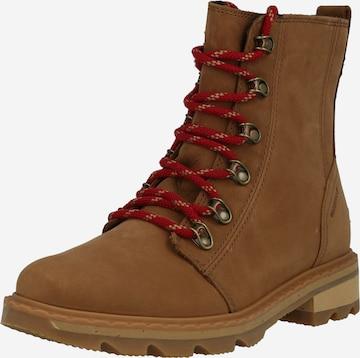 SOREL Snørestøvler i brun