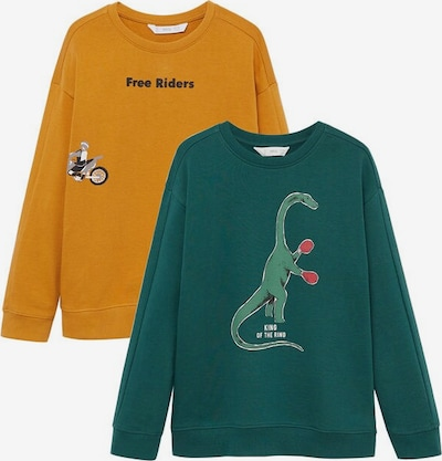 MANGO KIDS Sweatshirt 'Wordpk-i' in senf, Produktansicht