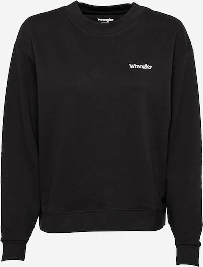 WRANGLER Sweatshirt 'RETRO' in schwarz / weiß, Produktansicht