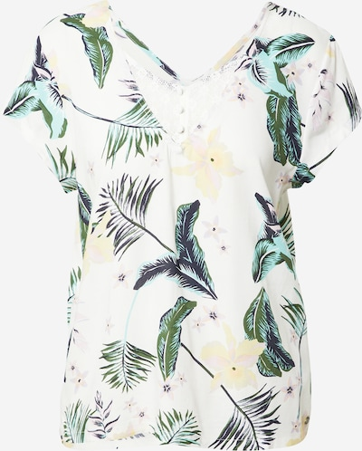 ROXY Blouse 'PARADISE STORIES' in de kleur Marine / Pasteelgeel / Mintgroen / Wit, Productweergave