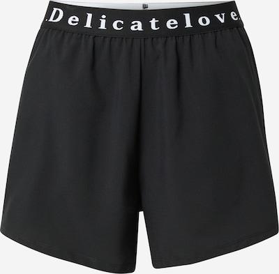 DELICATELOVE Sporthose 'MASHA' in schwarz / weiß, Produktansicht