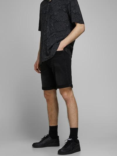 JACK & JONES Vaquero 'JJIRICK JJICON SHORTS GE 010 I.K STS' en negro denim, Vista del modelo