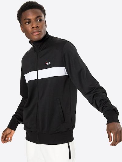 FILA Sweat jacket 'SANGA' in Red / Black / White: Frontal view