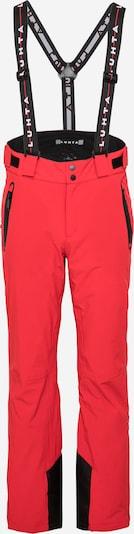 LUHTA Spodnie outdoor 'KORTEPOHJA' w kolorze czerwony / czarnym, Podgląd produktu
