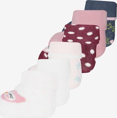 EWERS Socken in taubenblau / braun / dunkelrot / weiß, Produktansicht
