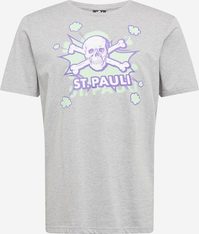 Tricou 'Pow Pow' FC St. Pauli pe gri amestecat / verde mentă / alb, Vizualizare produs