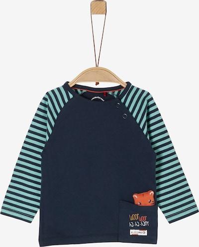 s.Oliver Shirt in navy / himmelblau / braun, Produktansicht